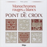 Monochromes rouge et blancs au point de croix - 105