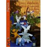 Livre lions, elephants, lapins et canards en tissu - 105