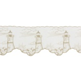 Bande cheminée lin 8 cm blanc phare écru - 128