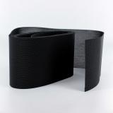 Tulle lourd élastique 10cm noir
