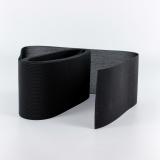 Tulle lourd élastique 8cm noir