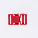 Boucle plastique 20mm rouge