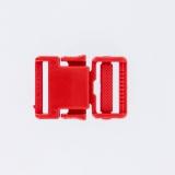 Boucle plastique 25mm rouge