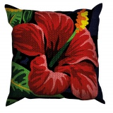 Kit 40/40 coussin soudan grosse trame Hibiscus - 150
