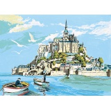 Canevas 45/60 antique mont st michel - 150