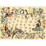 Canevas 45/60 antique alphabet oiseaux - 150
