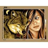 Canevas 45/60 antique Loup - 150
