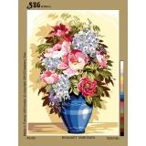 Bouquet vase bleu - 150