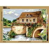 Canevas 45/60 antique le moulin de vernon - 150