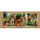 Canevas 25/60 antique les tigreaux - 150