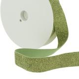 Elastique lurex vert 20mm