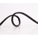 Cordon simili cuir métallisé noir 0,5mm