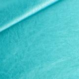Coupon 50/30 simili cuir métallisé turquoise