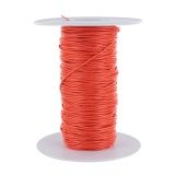Lacet ciré glacé 1mm orange