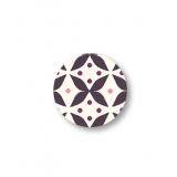 Bouton tissu carte de 4 boutons en 15mm - 169