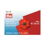 Épingle/piquer fer argenté 1,05x38mm carton 100 gr - 17