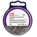 Épingle/piquer dentelle acier 0,53 x 26 mm 15 - 17