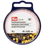 Épingle/piquer tête plastique jaune 0,65x45mmrt - 17