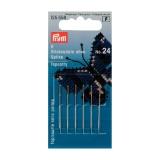 Aiguille/tapisserie n°24 0,70x33mm sans pointe arg - 17