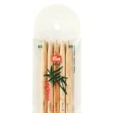 Aiguille tricot 2 pt bambou 20cm n°9 - 17