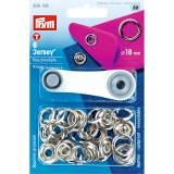 Bouton pression jersey 18mm laiton argente - 17