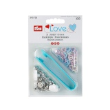 Prym love boutons pression jersey rose bleu perle  - 17