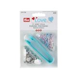 Prym love boutons pression jersey rose bleu perle  - 17