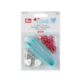 Prym love boutons pression jersey color rouge 8 mm - 17