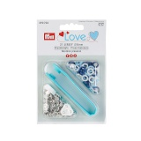 Prym love boutons pression jersey color bleu blanc - 17