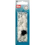 Boutons pression color snaps fleur 13,6 mm blanc - 17