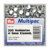 Rivet tubulaire pour épaisseur 4-6mm argent 200p - 17