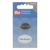 Pins handmade à coudre noir + blanc 2 pce - 17