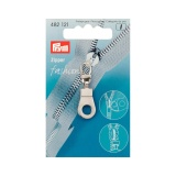 Tirette fashion zipper oeillet argenté - 17