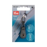 Tirette fashion-zipper imitation cuir gris argent - 17