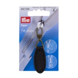Tirette fashion-zipper imitation cuir ovale noir 1 - 17