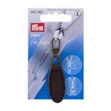 Tirette fashion-zipper imitation cuir ovale brun f - 17
