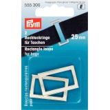Boucle rectangulaire pour sac 25 mm argent - 17