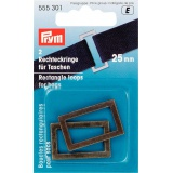 Boucle rectangulaire pour sac 25 mm laiton antiq - 17