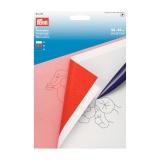 Papier carbone 56x40 cm blanc rouge bleu sachet 5 - 17