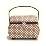 Boîte à couture polka à pois beige - 17