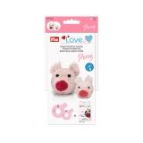 Prym love gabarit pour pompon cochon percy - 17