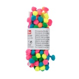 Galon pompons 20 mm multicolore - 17