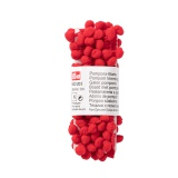 Galon pompons 20 mm rouge - 17