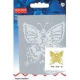 Feuille transfert petit papillon or - 17