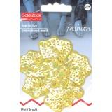 Motif brodé fleur paillette ambre - 17