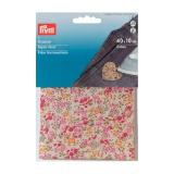 Pièce thermo coton fleurs rouge multi 40x10cm - 17