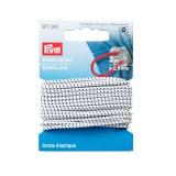 Corde elastique 2,5 mm blanc et noir - 17
