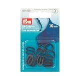 Boucles soutien-g assorti plastique 10mm noir - 17