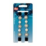 Bretelles strass noir perles blanches c.2 - 17