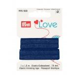 Prym love passepoil élastique 15mm bleu 1,5m - 17